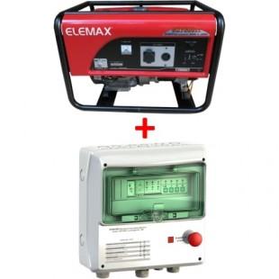 Генератор Elemax SH-7600EX-S + АВР Porto Franco К-50