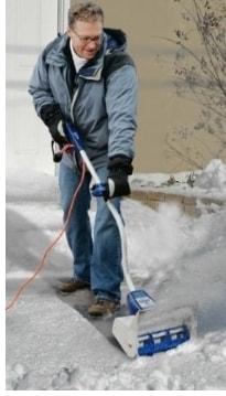 Ручной электрический снегоуборщик